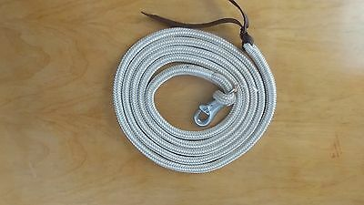 12' TRAINING YACHT ROPE LEAD WITH HEAVY DUTY BULL SNAP,  FITS  PARELLI METHOD
