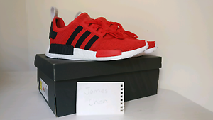 """DS ADIDAS NMD R1 RED/BLACK US 10 """"CORE RED"""" Baulkham Hills The Hills District Preview"""
