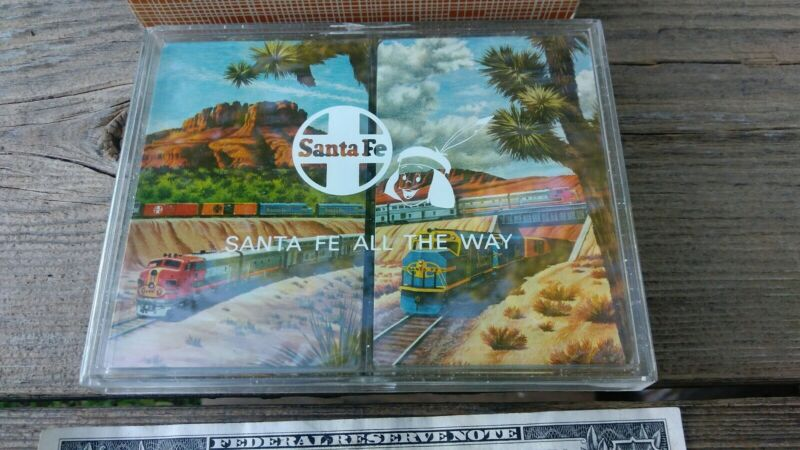 Vintage Santa Fe Railway Railroad Train Playing Cards