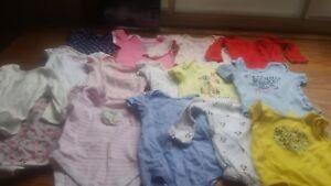 Baby girl onsies 6 -9 mths