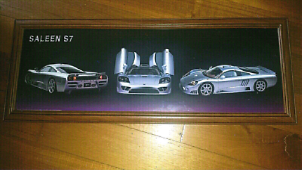 Saleen S7 Silver sports car picture frame home office decor