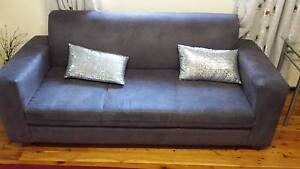 3 seater suede sofa Leumeah Campbelltown Area Preview
