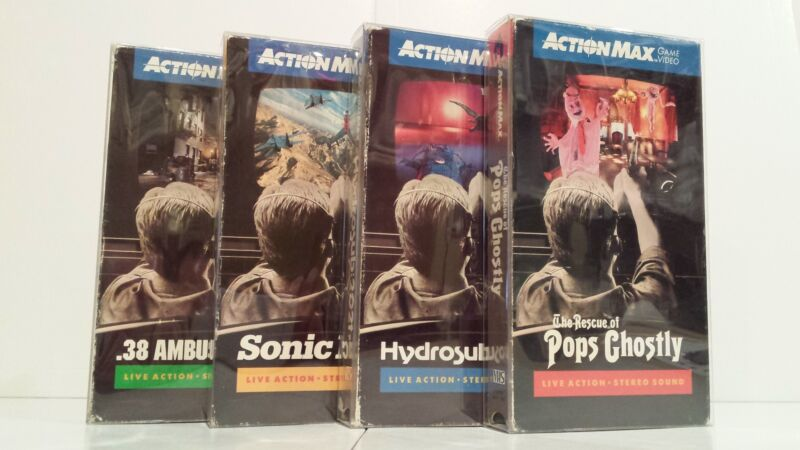 5 VHS Clear Plastic Slip on Covers Box Protectors Action Max