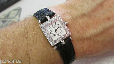 Beautiful Woman's  Van Cleef & Arpels Classique 18k White Gold Diamond Watch