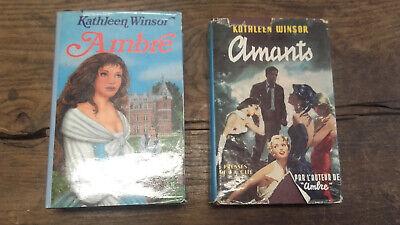 Lotto Di 2 Libri Di Kathleen Winsor: Amanti - Ambra
