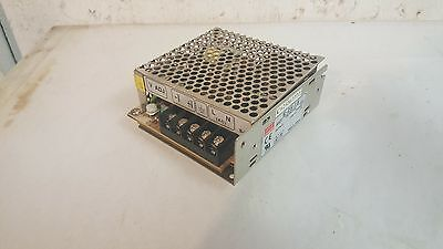 Mean Well Power Supply, S-25-15, 100-240 to 15V @ 1.7A, Used, WARRANTY