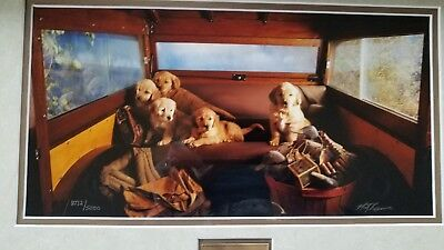 "2000 Ducks Unlimited Puppy Photo ""ARE WE THERE YET"" By MATT KUNN, (Unlimited Photos)"