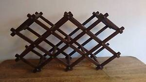 Vintage wooden accordion wine rack Lakemba Canterbury Area Preview