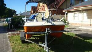 whaler 3.8 cat centre console flat floor with 30 evinrude Seaton Charles Sturt Area Preview