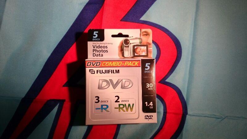 50 FUJI 80MM (MINI) DVD-RW & DVD-R Combo Pack 1.4GB 30 MIN W/ CASES  - 25302434