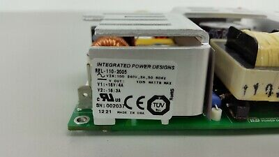 Integrated Power Designs Rel-110-2005 Dual Output Power Supply 15v  43 A