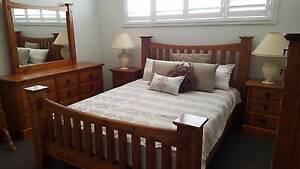 6x Piece Natural Classic Wooden Bedroom Suite Harrington Park Camden Area Preview