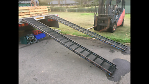 2 CAR MOTORBIKE MOTORCYCLE BIKE MOWER TRAILER RAMPS Prospect Blacktown Area Preview