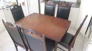 Dining table with 6 chairs  vintage Kogarah Bay Kogarah Area Preview