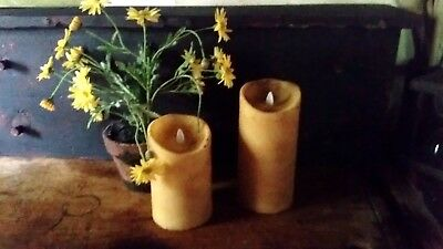 "HAND POURED 7"" BEESWAX PILLAR Judy Condon REMOTE/Timer!  Remote"
