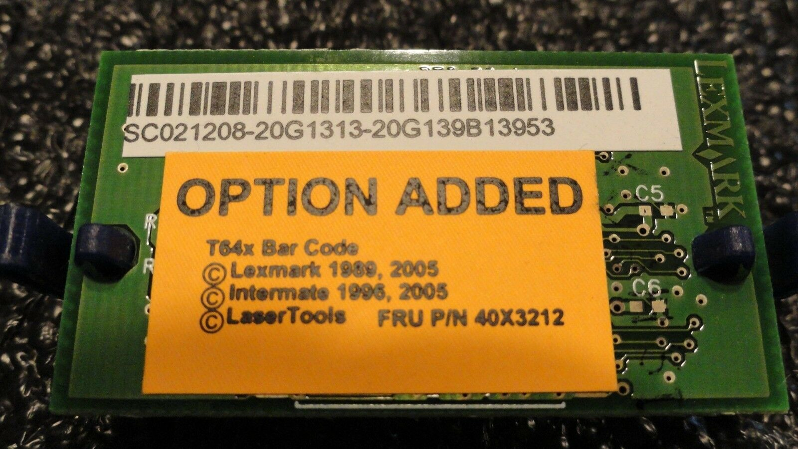 Lexmark™ 40x3212 Bar Code Card T64X for Lexmark T640 T642 T644 WORKS GREAT