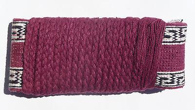 Wushu / Kung-Fu Cotton Belt, Maroon w/Cloud Pattern Trim