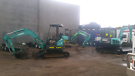 Discounted 5 Ton Excavators for hire DRY or WET