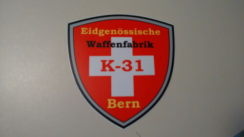K-31 Swiss shield decal