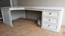 White Solid Timber Funky shabby chic design Desk with draws Burleigh Waters Gold Coast South Preview