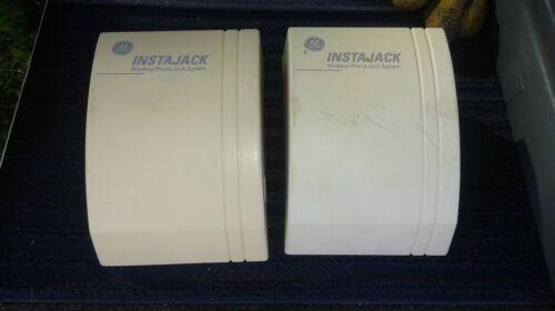 GE TL96595 Pair Instajack Wireless Telephone Extender Set USED