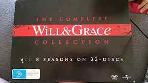 Will and Grace The Complete Collection dvd box set seasons 1-8 Mitcham Mitcham Area Preview
