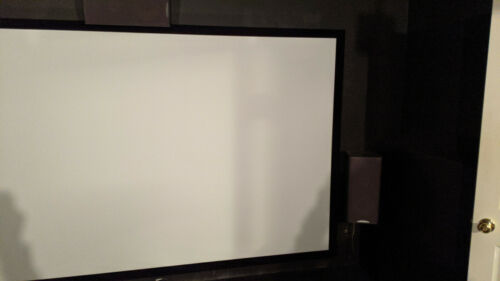 """STR-169135 Silver Ticket 135"""" Fixed Frame 16:9 Projector Screen White Material"""