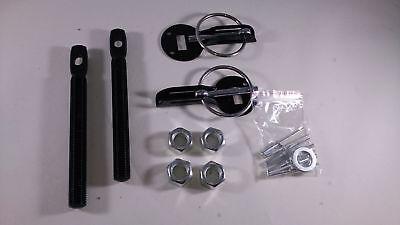 Hood Pin Latch Locking Kit Black Color Universal Aluminum Alloy Mount covid 19 (2004 Mustang Hood Pin coronavirus)