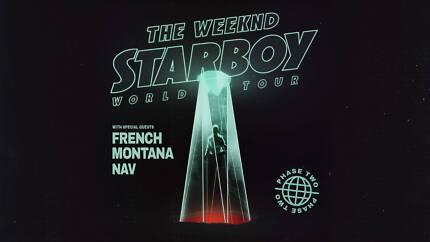 2 x The Weeknd Sydney Qudos Bank Arena, Saturday 02/12/2017