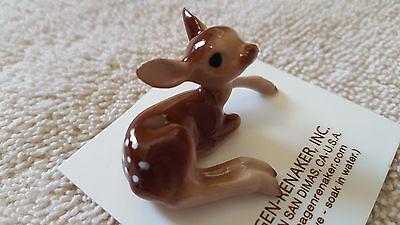 Hagen Renaker,Deer,Baby Deer Lying,Figurine,Miniature,Gift,Free Shipping,03090