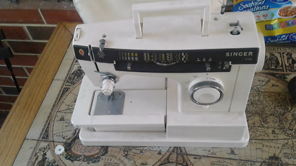 Old Singer electric sewing machine made in italy.