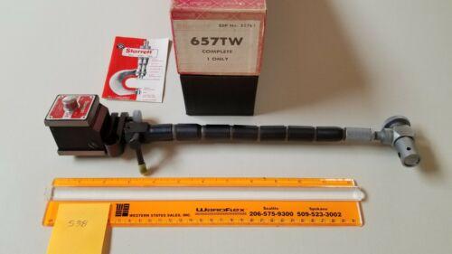 STARRETT 657TW Flex-O-Post Magnetic Base w/ Fine-Adjust EXC Cond - Free Shipping