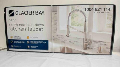Glacier Bay Gage Single-Handle Pull-Down Kitchen Faucet w/Turbo Spray