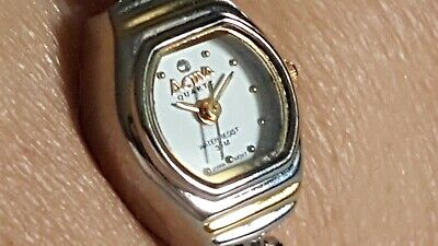 ACTIVA  MOP Face  Two Tone   Ladies Watch  Stainless Steel  Japan Quartz