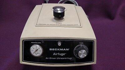 Beckman Airfuge Air Driven Ultracentrifuge Centrifuge