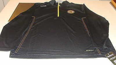 Boston Bruins NHL Hockey Reebok Center Ice Baselayer 1/4 Zip Top Pullover Small ()