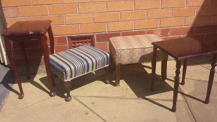 Vintage foot stools and side tables Blair Athol Port Adelaide Area Preview