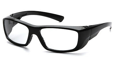 Pyramex Emerge Black 2.0 Clear Reader Lens Reading Safety Glasses Z87 1 Pr