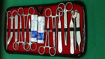 New Premium Grade Minor Surgery Set 23 Pieces Surgical Instruments Kit-excellen