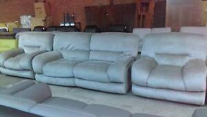 2.5 SEATER RECLINERS  PLUS 2 SINGLE RECLINERS IN LATTE FABRIC Thebarton West Torrens Area Preview