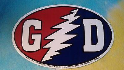(Grateful Dead GD Bolt 5.5 Inch Oval Sticker)