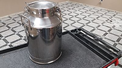 Industrial 8 Gallon Stainless Steel Milk Can With Clamp Lid Milkcan