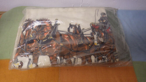 Vintage Budweiser Clydesdale Towel New NOS