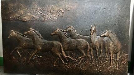 HORSES PLAQUE INDOOR OR OUTDOOR
