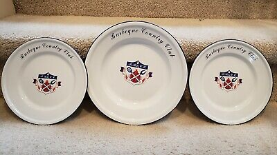 Cooks Club Barbeque Country Club Tin Plates  Salad Plate x 2 Dinner Plate x 1 (Tin Dinner Plates)