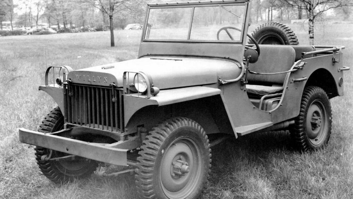 Willys Jeep in Frontansicht