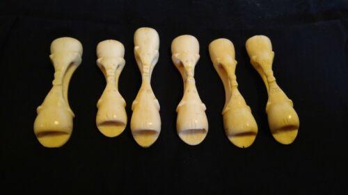Vintage Set of Six Kenyan Hand Carved Napkin Rings -TWO ELEPHANTS-