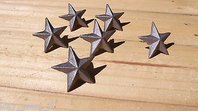 Cast Iron ~ TEXAS STAR ~ Decorative Upholstery Craft Tack { Set of 6 } by PLD