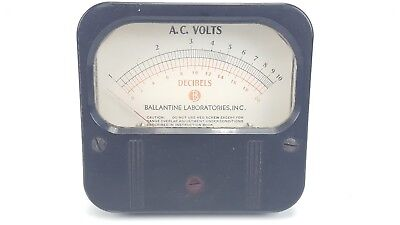 Vintage Weston 861 Decibels Ac Volts 1-10 0-20 Ballantine Panel Mount Meter 5
