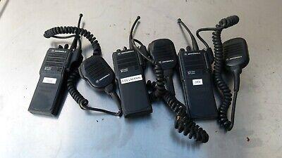 Lot Of 3 Motorola H01sdd9pw1bn Mts2000 Flashport Handie-talkie Fm Radio W Mic